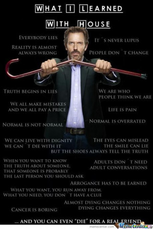 What I Learned With House M.d