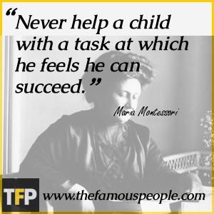 Famous Quotes Maria Montessori