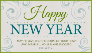 New Year Bible Verse Greetings Card