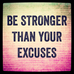 Move Over, Excuses-Guest Post