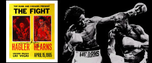 ... Hagler vs. Thomas Hearns: Leroy Neiman Copyright Boxing Art Canvas