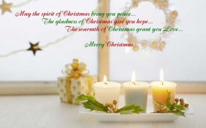 May the spirit of Christmas bring you peace…