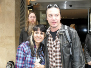 ... and 18th and FNMB new recruit Marian was there to meet Mike Patton
