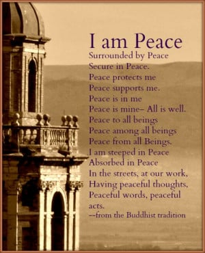 Quote of the Day #12 I Am Peace