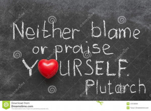 Famous Ancient Greek philosopher Plutarch quote about praise or blame ...