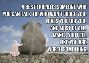 Best Friend Is Someone Who You Can Talk To ~ Friendship Quote