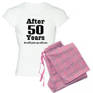 50th Anniversary Funny Quote Women's Light Pajamas