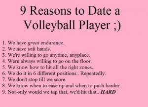 Best Positions For Volleyball Quotes. QuotesGram 10 Reasons To Play Volleyball
