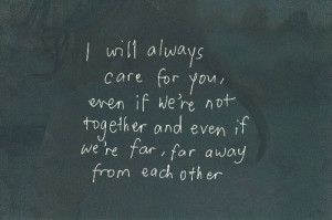 Will Always Care For You
