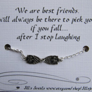 ... Friendship Quote Card- Bridesmaids Gift - Friends Forever - Quote Gift
