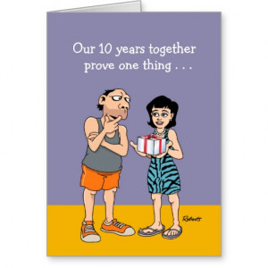 10th Wedding Anniversary Card: Love