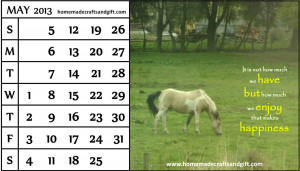 Free monthly 2013 June Calendar with quotes