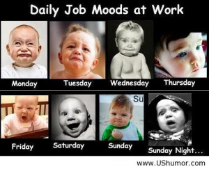 Daily job moods at work US Humor - Funny pictures, Quotes, Pics, Ph...