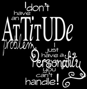 don't have an Attitude problem I just have a Personality you can't ...