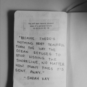 Sarah Kay is one of my favorite poets. This is from the poem