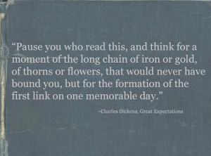 Great Expectations quote.