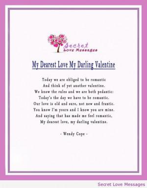 My dearest love my darling valentine
