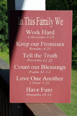 ... , Bible Verses Rules Sign, Christian Values sign, Family Values sign