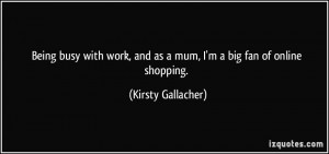 Being busy with work, and as a mum, I'm a big fan of online shopping ...