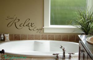 ... about Soak Relax Enjoy Vinyl Wall Decals Stickers Bathroom Decor 797