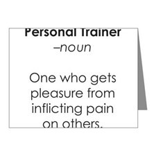 Personal Trainer Thank You Cards & Note Cards