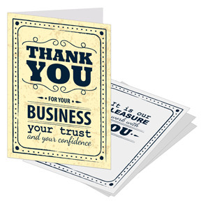 Business Referral Thank You Cards