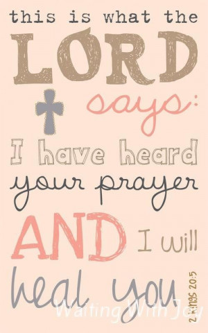 Prayer for Healing Quotes   Sickness Has Taken Over!! - Waiting With ...
