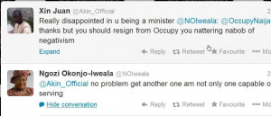 ... members walked out on okonjo iweala is a report she claims is false