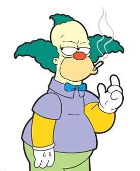 Krusty fumando
