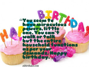 ... as per your demands. Happy birthday. 1st birthday quotes for girls