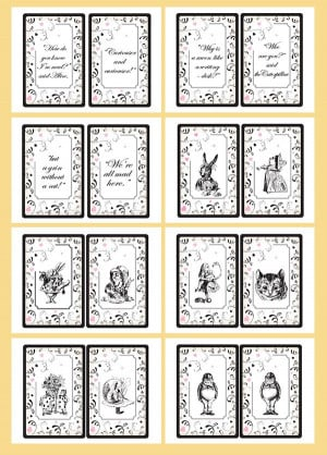 ... Quotes Bunting Small - Printable template. Alice in wonderland wedding