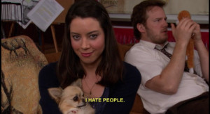 parks and recreation parks and rec aubrey plaza april ludgate i hate ...