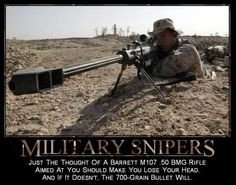 The .50 caliber solution. Marine+Sniper+Quotes   Military snipers More