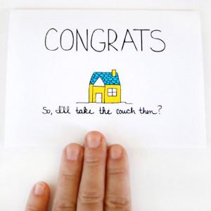 New House Card - New House Congratulations Card - Housewarming Card