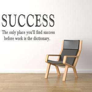 Success Work Vinyl Wall Quote Sticker Saying Decor Inspirational Decal ...