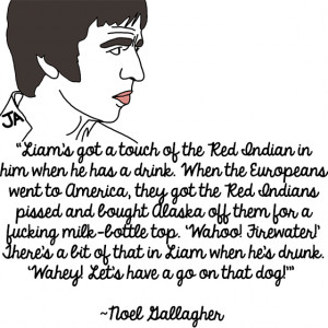 ... and Noel Gallagher Talk Shit About Each Other, In Illustrated Form