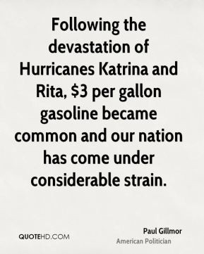 Paul Gillmor - Following the devastation of Hurricanes Katrina and ...