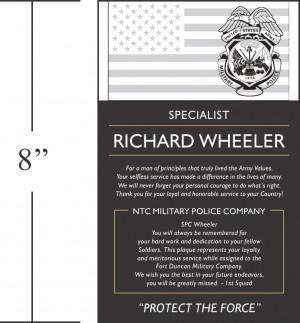 Home > Military Plaques > Military Retirement Plaque