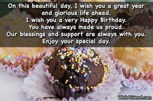 great year and glorious life ahead. I wish you a very Happy Birthday ...