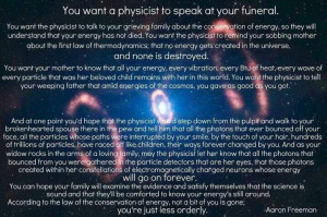 Comfort in Death via a Physicist