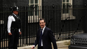 Chancellor of the Exchequer George Osborne arrives at Downing Street ...