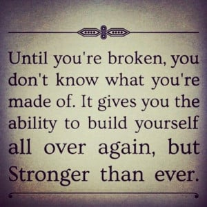 Quote of endurance and overcoming hard times.