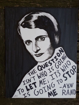 Ayn Rand (Original Drawing) by Ryan Sheffield