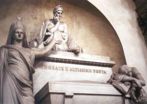 The memorial tomb for Dante Alighieri at Basilica di Santa Croce in ...