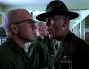 Lee Ermey as Gunnery Sargent Hartman in Full Metal Jacket