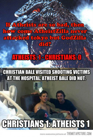 Funny Christian Quotes About Atheism Funny atheists vs christians