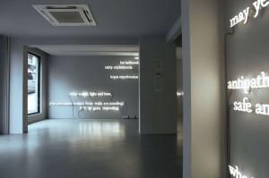... installation by joseph kosuth references james joyce's finnegans wake