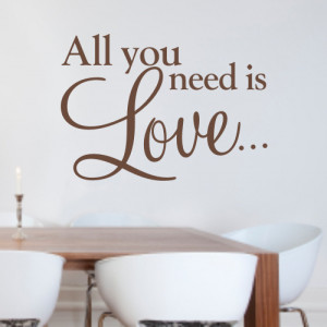All you need is Love - Wall quote sticker - WA068X