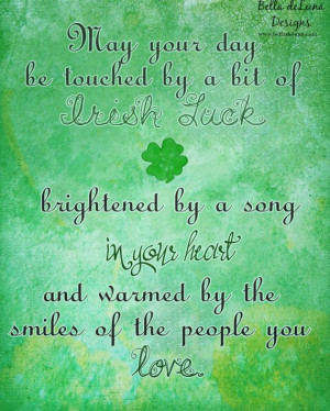 IRISH LUCK Inspirational Quote Irish Blessing Print 8x10 St. Patrick's ...
