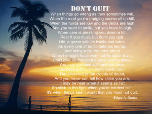 Don't Quit – Inspirational Quotes